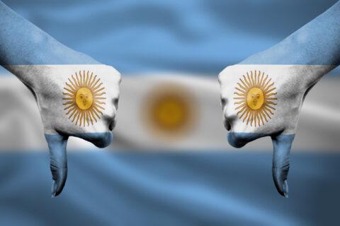 ARGENTINA: FLAT BROKE