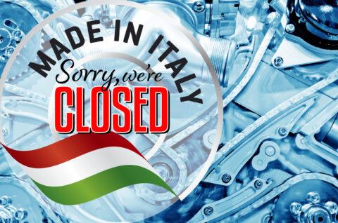 CAR PARTS MAKER CLOSES ITALIAN PLANT, WARNS MORE TO COME